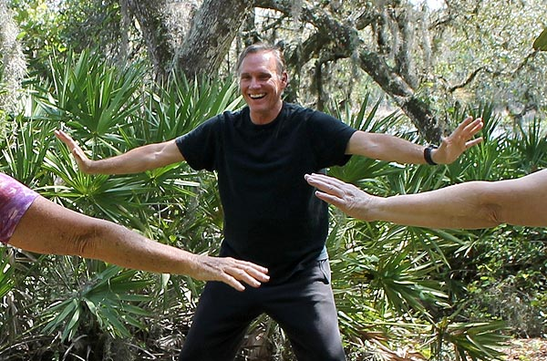 Qi Gong with Greg on 1st April 2012 at Dancing Peacock Paradise