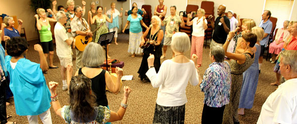 Dances of Universal Peace at Nature Coast Unitarian Universalist Service in Citrus Springs on September 15, 2013