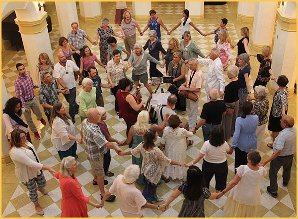 Dances of Universal Peace at the Thomas Center in Gainesville, July 29, 2017