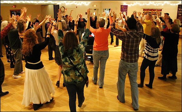 Global Peace Dance of New Year's Eve 2016 in Gainesville, Florida