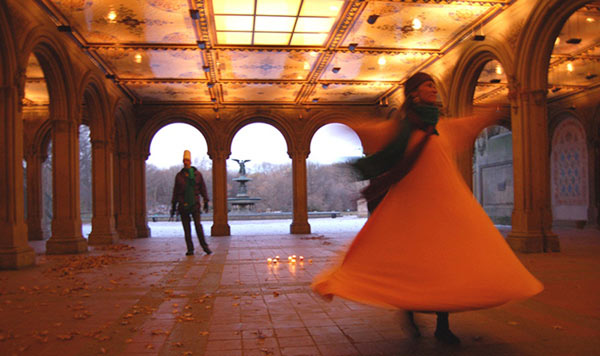 Habiba whirling in Central Park on Rumi Urs