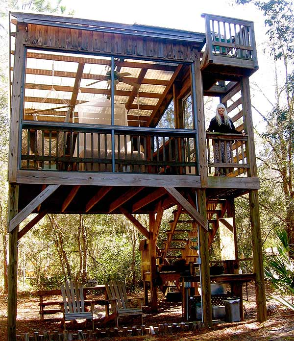Treehouse at Dancing Peacock Paradise by Greg
